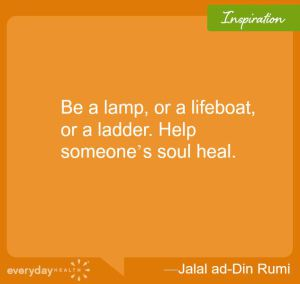 Quote About Healing a Soul on Orange Background